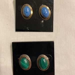 Two Real Stone Earrings sets